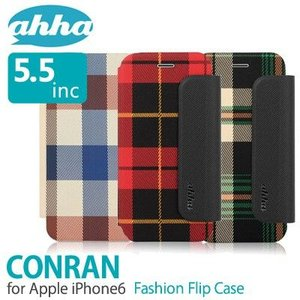 iPhone ケース iPhone6 ケース 手帳 ahha アハ CONRAN Flip Case 5.5inc フリップケース メール便OK|sincere-inc