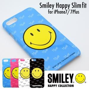 iPhone ケース iPhone7 iPhone7Plus ケース カバー スマイリーハッピースリムフィット HAPPY ハードケース メール便OK|sincere-inc