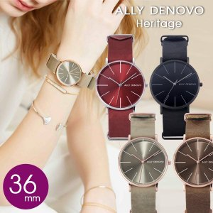ALLY DENOVO アリーデノヴォ 腕時計 メンズ レディース Heritage 36mm 正規...