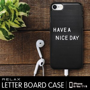 RELAX iPhoneケース LETTER BOARD CASE リラックス レターボードケース iPhone6 6s 7 8 メール便OK|sincere-inc