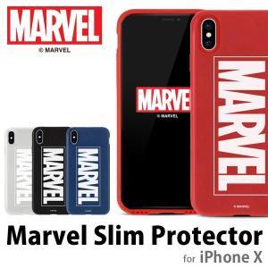 iPhoneXケース MARVEL マーベル SLIM PROTECTOR スキンプロテクター for iPhoneX メール便OK|sincere-inc