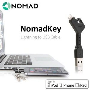ガジェット 充電 おもしろ 雑貨 おしゃれApple公認 Lightning USB ケーブル NomadKey ノマドキー メール便OK|sincere-inc