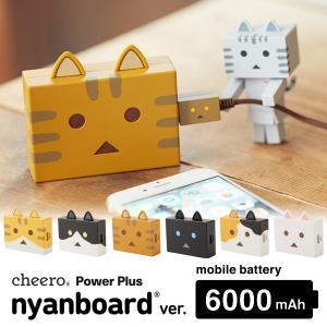 cheero チーロ Power Plus 6000mAh nyanboard version ニャンボー 充電器 バッテリー 猫耳|sincere-inc