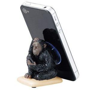 おもしろ 雑貨 iPhoneスタンド 吸盤 宇宙飛行士 アーミー サル ロボット シロクマ スマホスタンド|sincere-inc
