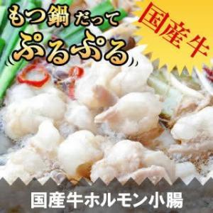 牛ホルモン 小腸 200g もつ鍋 / 焼肉 国産牛 国産 焼肉 バーベキュー|singaki-meat