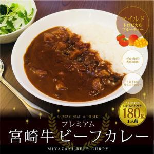 牛肉  プレミアム 宮崎牛 ビーフ カレー 180g×1人前 singaki-meat