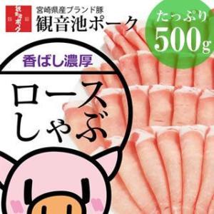 宮崎県産 ・ 観音池ポーク ロース しゃぶ カット500g|singaki-meat