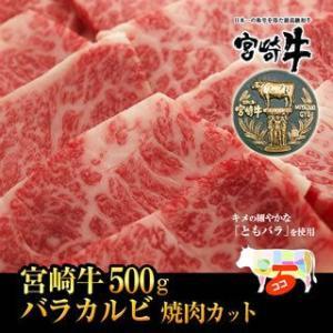 牛肉 宮崎牛 上カルビ ・バラ 焼肉 カット 500g  宮崎牛 とも バラ 和牛 黒毛和牛|singaki-meat