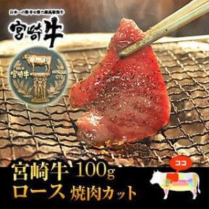 牛肉 焼肉 宮崎牛 霜降りロース 焼肉 カット 100g 国産 宮崎県産 BBQ バーベキュー 和牛 黒毛和牛 singaki-meat