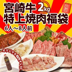 牛肉 バーベキューセット 6〜8人前 宮崎牛 入の豪華! 焼肉 バーベキューセット 2kg 送料無料 BBQ|singaki-meat