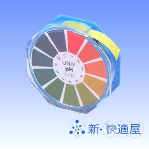 pH試験紙 UNIV ユニバーサル 9mm×6m (洗剤廃液の中和処理時のpH値確認に 水素イオン濃度測定紙 / アドバンテック) sinkaitekiya