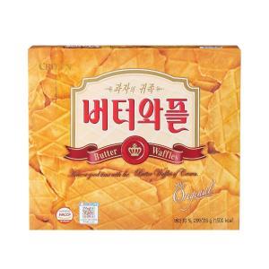 『クラウン』バターワッフル 15枚(5袋入) <韓国お菓子・韓国スナック> sinnara