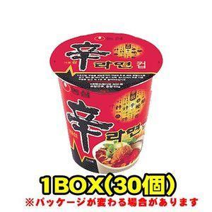 『農心(ノンシム)』辛ラーメンカップ(小)(■BOX 30入) <韓国ラーメン> sinnara
