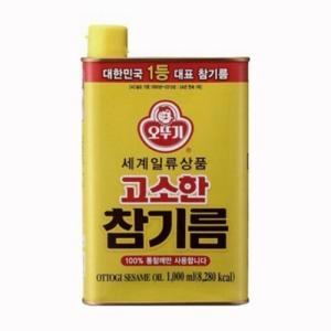 『オトギ(オットギ)』ごま油 1000ml缶 <韓国調味料・韓国産ごま油・ごま油>|sinnara