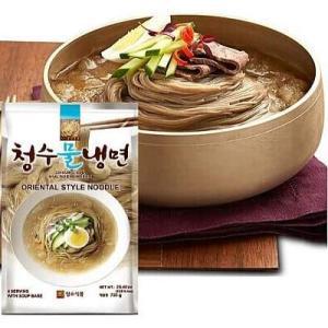 清水 冷麺 セット スープ付き チョンス 水冷麺 720g (麺560g/濃縮スープ40g×4袋) ...