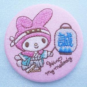 マイメロディ刺繍缶バッジ☆日野限定!新選組これくしょん sinsengumi-goods