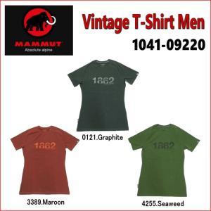 【メール便選択で送料無料】MAMMUT/マムート Vintage T-Shirt Men(ヴィンテージTシャツ メンズ)/1041-09220【半袖】【アスレチックフィット】|sinsetsusou