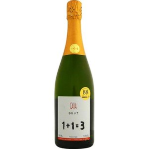 [お酒 果実酒 スパークリング  スプマンテ]1+1=3(ウ・メス・ウ・ファン・トレス) カヴァ ブリュット 750ml 正規|sintounakano