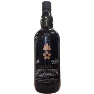 [お酒][ウイスキー]笹の川酒造 ブレンデッドウイスキー 山桜 黒ラベル 700ml|sintounakano