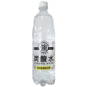 [飲料水]友桝 強炭酸水 1000mlペット 1ケース(15本入)|sintounakano