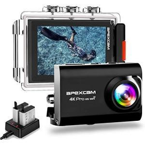 進化版 Apexcam pro EIS アクションカメラ 4K高画質 2000万画素 40M防水 水...