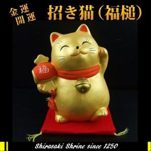 金運財運UP 風水金運招き猫 福槌白崎八幡宮で祈願済み...