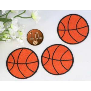 【送料62円】バスケットボールM/3枚セット/アイロンアップリケワッペン/刺繍/スポーツ|siripohn