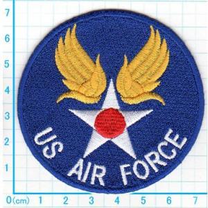 【送料62円】US AIR FORCEエンブレム/アイロンアップリケワッペン/刺繍/ミリタリー/飛行機/空軍|siripohn