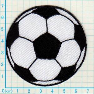 【送料62円】サッカーボールL/アイロンアップリケワッペン/刺繍/スポーツ|siripohn