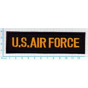 【送料62円】US AIR FORCEロゴマーク黒黄/アイロンアップリケワッペン/刺繍/ミリタリー/飛行機/空軍|siripohn