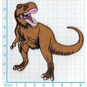 【送料62円】 T-REX/恐竜/アイロンアップリケワッペン/刺繍/ティラノサウルス/動物|siripohn