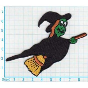 【送料62円】ウィッチ/アイロンアップリケワッペン/刺繍/魔女/ハロウィン siripohn