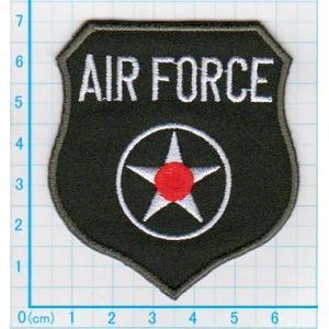 【送料62円】AIR FORCEエンブレムb/グリーン/空軍/アイロンアップリケワッペン/刺繍/ミリタリー|siripohn