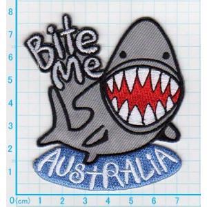 【送料62円】オーストラリアシャーク/サメ/アイロンアップリケワッペン/刺繍/魚/水族館|siripohn