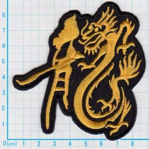 【送料62円】龍ドラゴン/M/アイロンアップリケワッペン/刺繍/和柄/龍エンブレム|siripohn