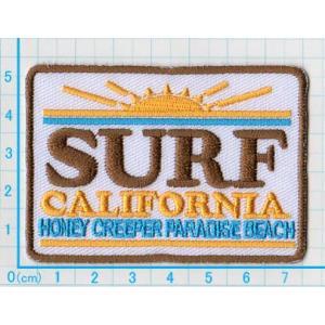 【送料62円】SURF CALIFORNIA/カルフォルニアサーフ/アイロンアップリケワッペン/刺繍/スポーツ/ロゴマーク|siripohn