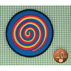 【送料62円】アジアンアートO/うずまき/アイロンアップリケワッペン/刺繍 siripohn