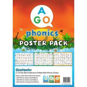 AGO フォニックス 教室用ポスター 3レベル セット 英語|siromaryouhinn