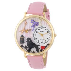 トリマー ピンクレザー ゴールドフレーム 時計 #G0630007|siromaryouhinn