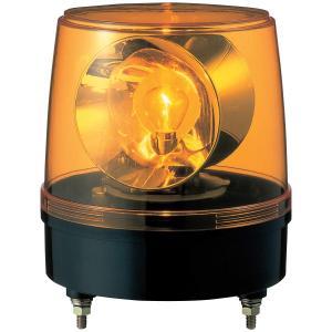 パトライト 大型回転灯 KG-100-Y Φ186 大型2面反射鏡 黄色 siromaryouhinn