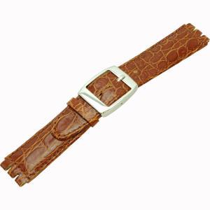 [モレラート]Morellato HILTON ヒルトン Swatch(スウォッチ)用時計ベルト 17mm ゴールドブラウン カーフ時計ベルト U2740 640 769 017|siromaryouhinn