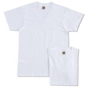 [グンゼ] インナーシャツ G.T.HAWKINS BASICPACKT-SHIRT 綿100% VネックTシャツ 2枚組 HK10152 メンズ ホワイト 日本L (日本サイズL相当) siromaryouhinn