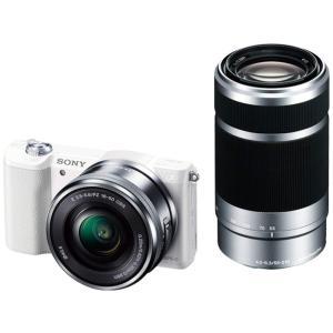 ソニー SONY ミラーレス一眼 α5100 ダブルズームキット E PZ 16-50mm F3.5-5.6 OSS + E 55-210mm F4.5-6.3 OSS ホワイト ILCE-5100Y|siromaryouhinn