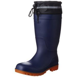 [フジテブクロ] 安全長靴 反射材 踏抜き防止 鋼板入 PVC 9208 メンズ NAVY 28.0cm siromaryouhinn