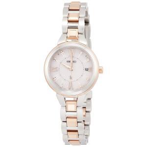 [セイコーウォッチ] 腕時計 ルキア ソーラー電波 ダイヤモンド入りピンク文字盤 プラチナダイヤシールド サファイアガラス SSVW146 レディース シルバー|siromaryouhinn