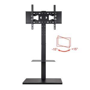 UNHO テレビスタンド 32〜60インチ対応 壁寄せテレビスタンド 首振り可能 高さ・角度調節 液晶テレビ テレビ台 ハイタイプ コーナー 棚板付き tv stand siromaryouhinn