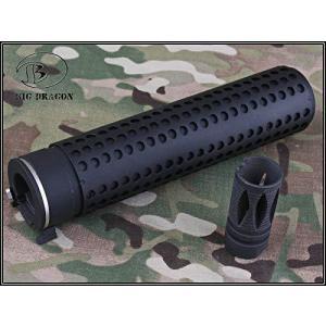 BigDragon Knight's タイプ M4 QDサイレンサー スチールフラッシュハイダーセット KAC ナイツ アーマメント QDC CQB ダミー サプレッサー 14mm 逆ネジ Long 165m|siromaryouhinn