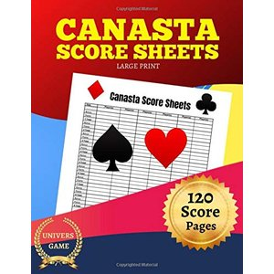 Canasta score sheets: Large print 8.5 x 11  inches 120 score pages|siromaryouhinn