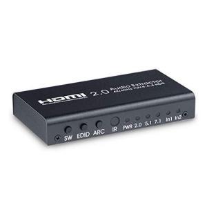 ELEVIEW HDMI 切替器 音声分離器 4K/60Hz HDR対応 2入力1出力 (オーディオ出力:光デジタル・3.5mmステレオミニ)|ARC対応 セレクター 分配器 PS4pro・Switch・Fi|siromaryouhinn