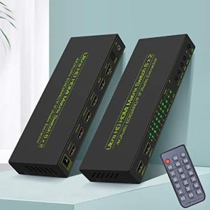 hdmi マトリックス 4k 6入力2出力 Ippinkan HDMIマトリックス セレクター hdmi1.4 hdcp1.4 音声分離対応(光デジタル・3.5mmステレオ音声出力) hdmi 切替器 hdmi siromaryouhinn